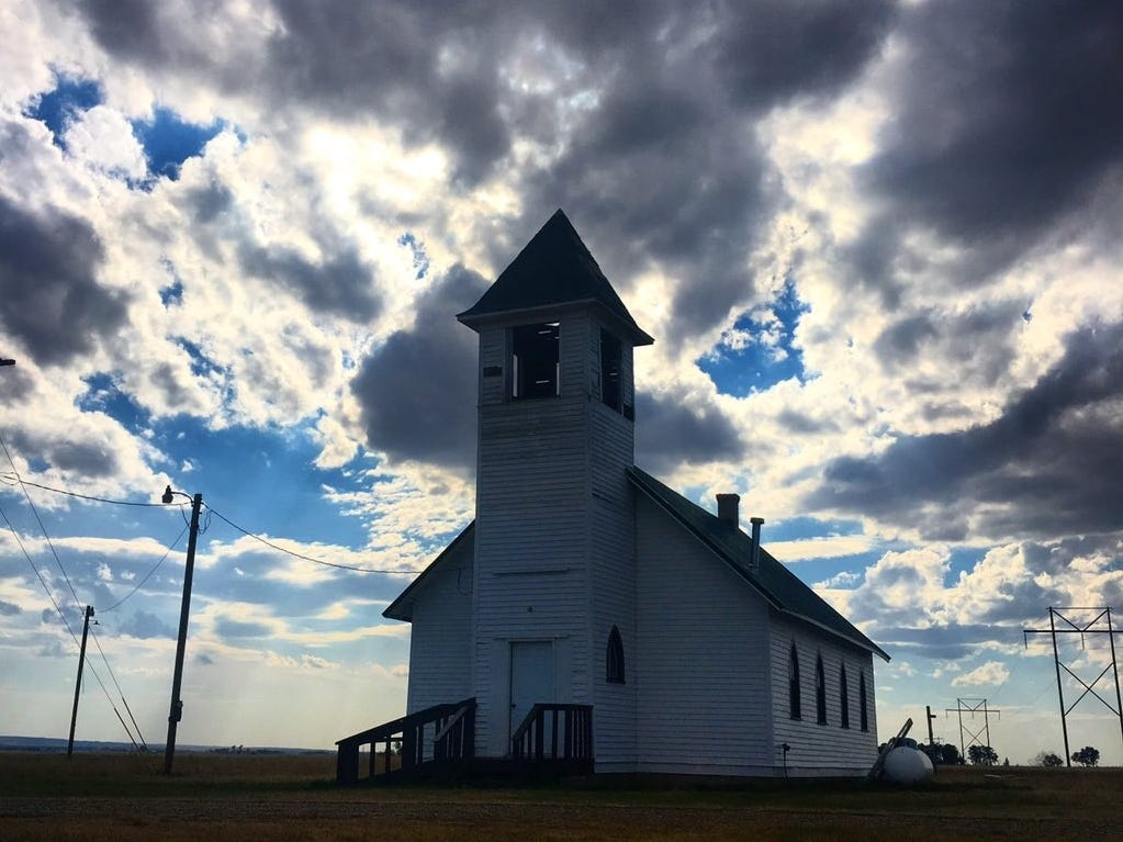 Heather Swift spotted this church in Chelsea, just off Montana's Hi-Line near Poplar.