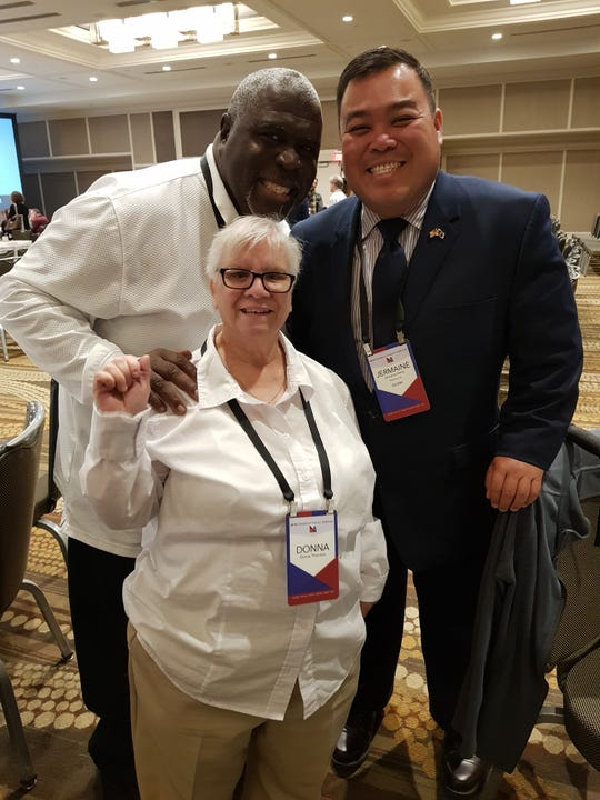 Pictured: Jermaine Alerta with Donna and Ricardo Thornton, self-advocates and featured speakers during the Disability Policy Seminar held April 8-10. This year's seminar drew approximately 900 attendees representing all 50 states, Puerto Rico, American Samoa, and Guam, according to Alerta.