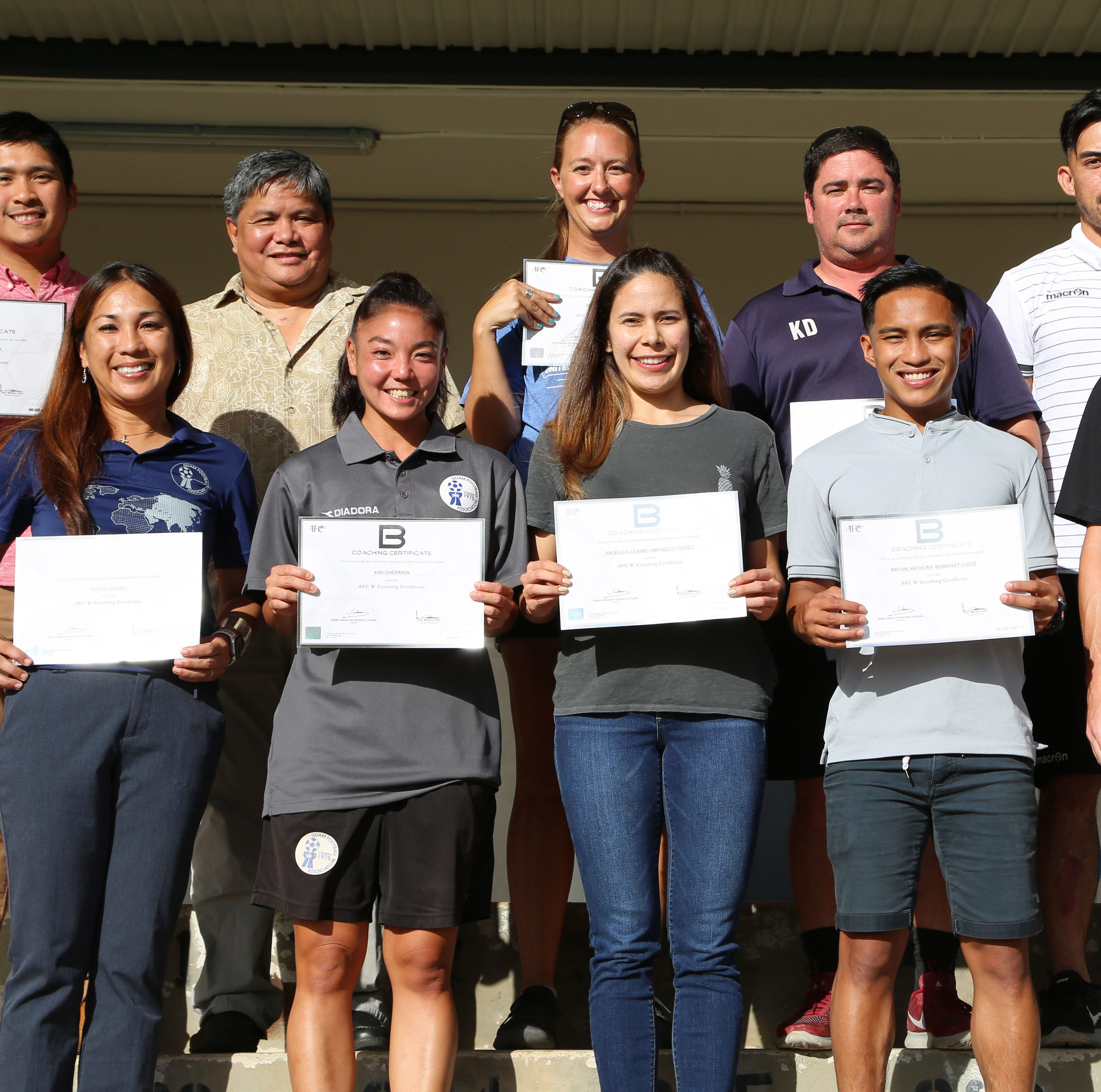 "12 Guam soccer coaches earn international AFC ""B"" coaching license"