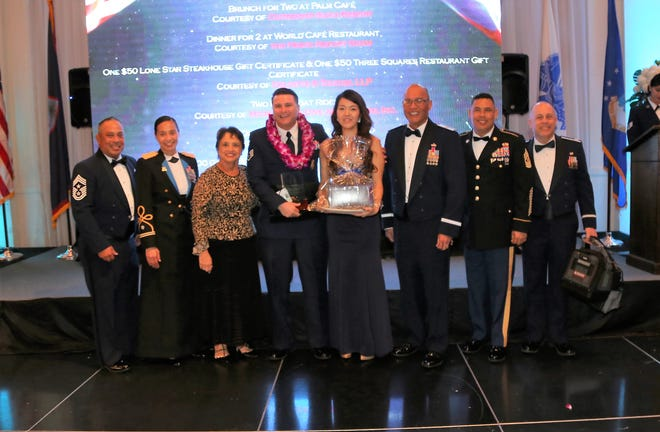 Staff Sergeant Matthew C. Naputi was selected as the 2018 ANG Region 7 NCO of the year. He will now compete with other Air Guard Airmen from across the country for top ANG honors in the NCO Category. Naputi is from the villages of Talofofo and Yona, and a member of the Guam Air National Guard for thirteen years. He has excelled in various capacities of Security Forces within the Guam Guard. In his civilian capacity, he is a Military Police Officer with the Department of the Navy. Staff Sgt. Naputi was selected as the Guam Air National Guard's NCO of the Year during their Enlisted Awards Banquet on February 2.