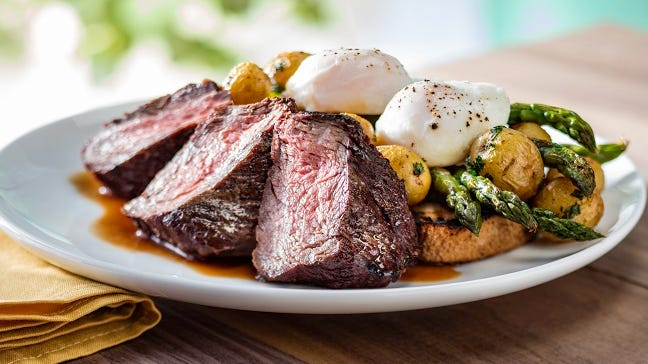 Steak and Eggs is one of five Easter brunch...