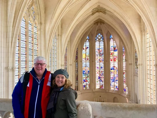 David Riggs (left) and T.J. Banes are visiting Paris this week.