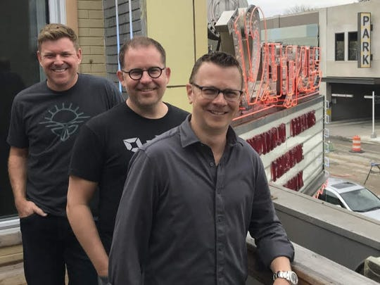 From left, Scott Kraege, Eric Tobias and Andrew Davis are the new owners of Broad Ripple's Vogue music venue.