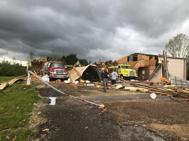 Tornadoes tore through Monroe County over the weekend, destroying Hamilton's only fire station.