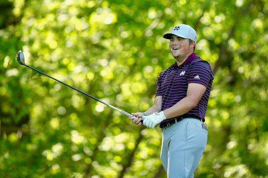 Mississippi State junior Garrett Johnson has a chance to win his second tournament title of the season. He's two shots behind the leader entering the final round of the Old Waverly Collegiate Championship.