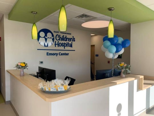 The front desk area of the ETCH urgent care clinic in Powell.
