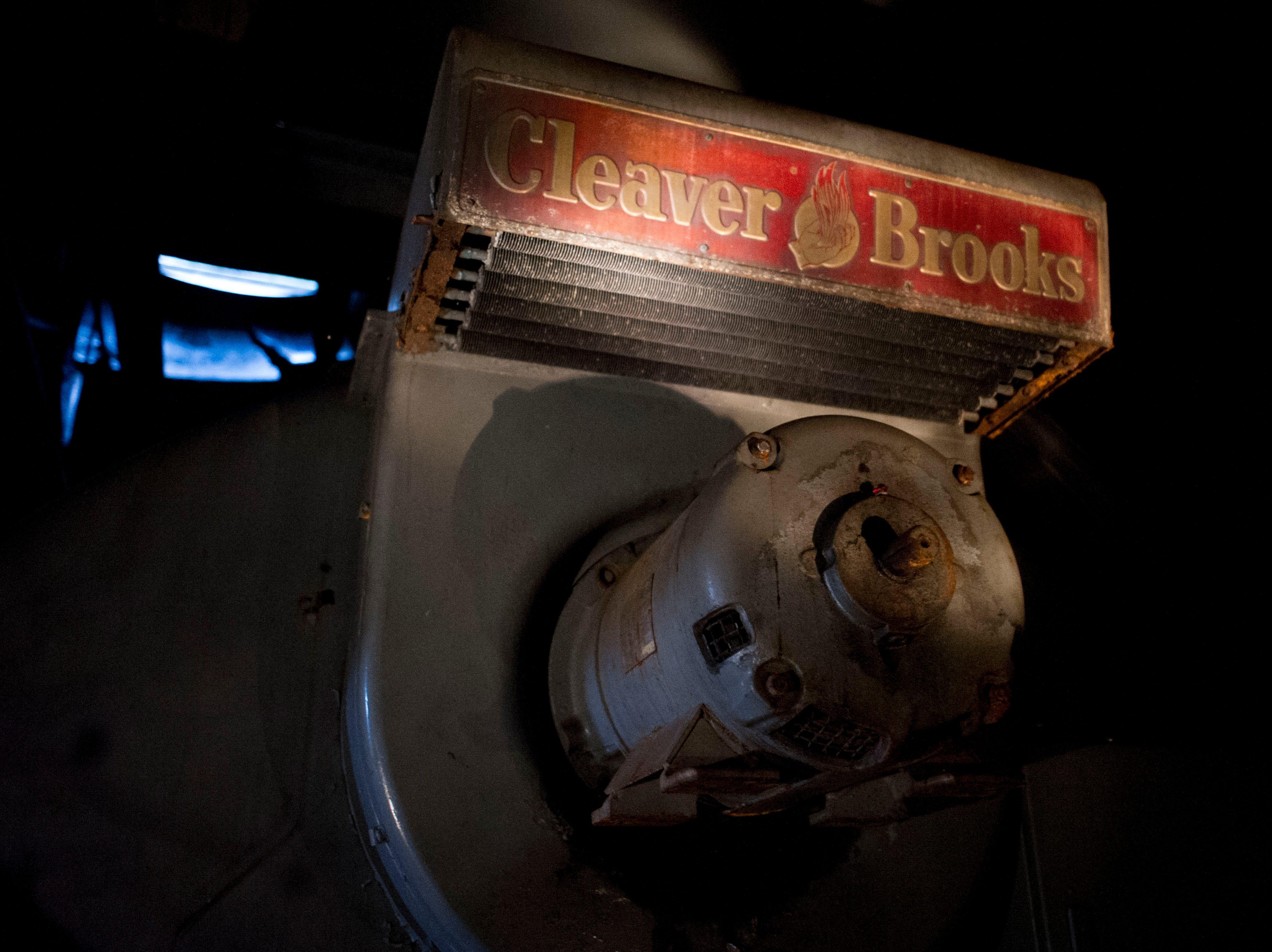 A large boiler in the Standard Knitting Mill building on Thursday, November 15, 2012.