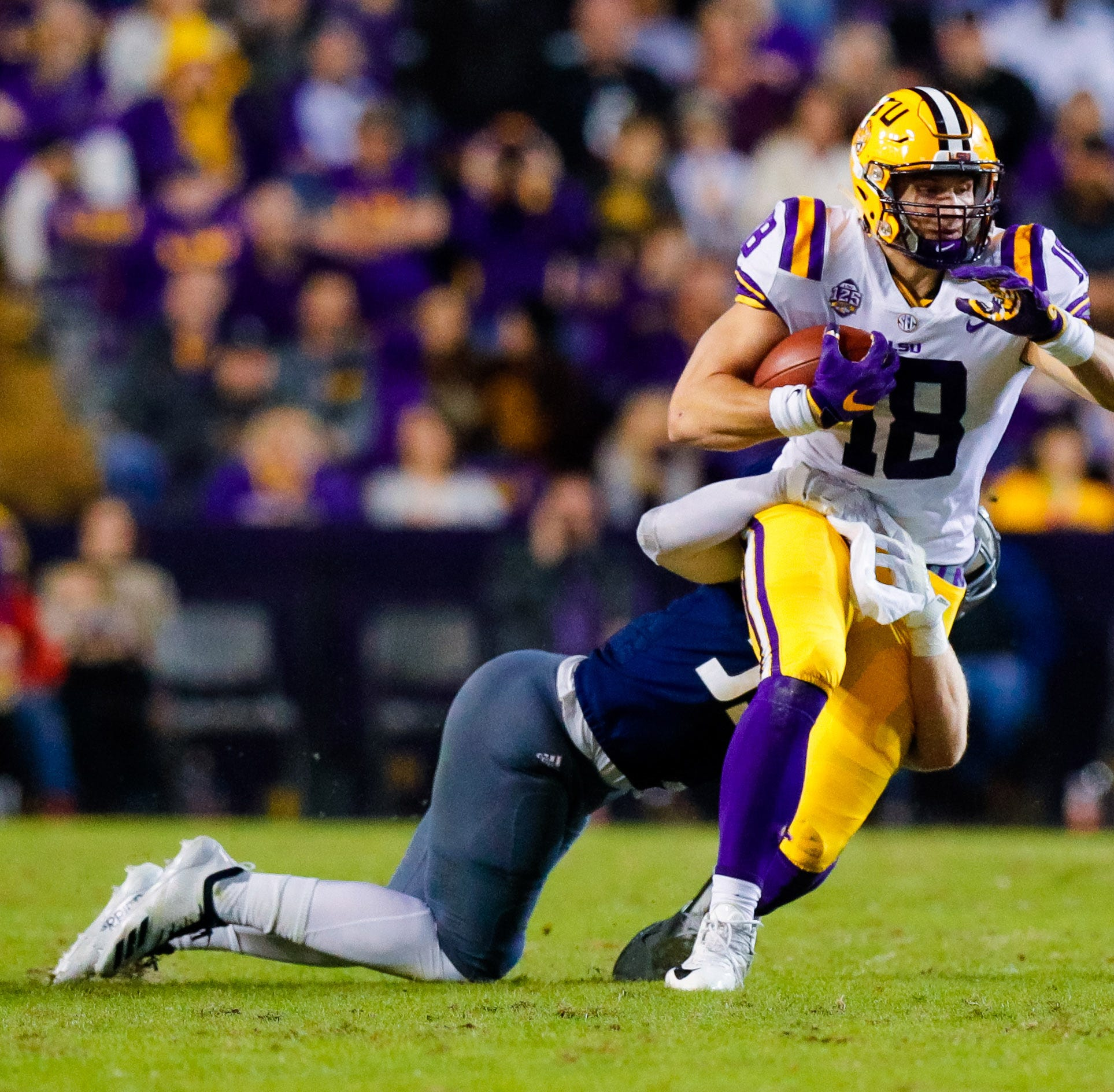 After White and Williams for LSU, it looks like Foster Moreau and Cole Tracy in NFL Draft