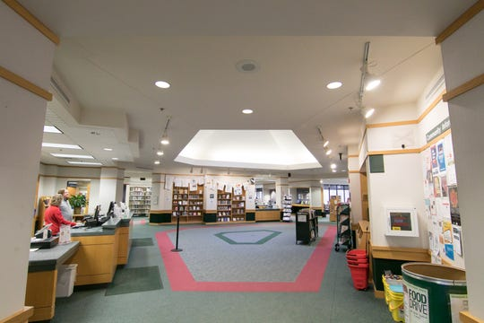 The Brighton District Library, shown Tuesday, April 16, 2019, will undergo dramatic renovations.