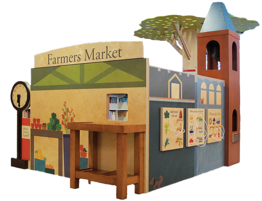 Brighton District Library launched a campaign to raise $25,000 to purchase a play structure and interactive toys such as those seen in this image.