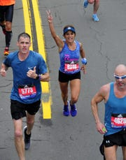 Jim Palmer (5773) of Fowlerville was the first Livingston County runner in the Boston Marathon.
