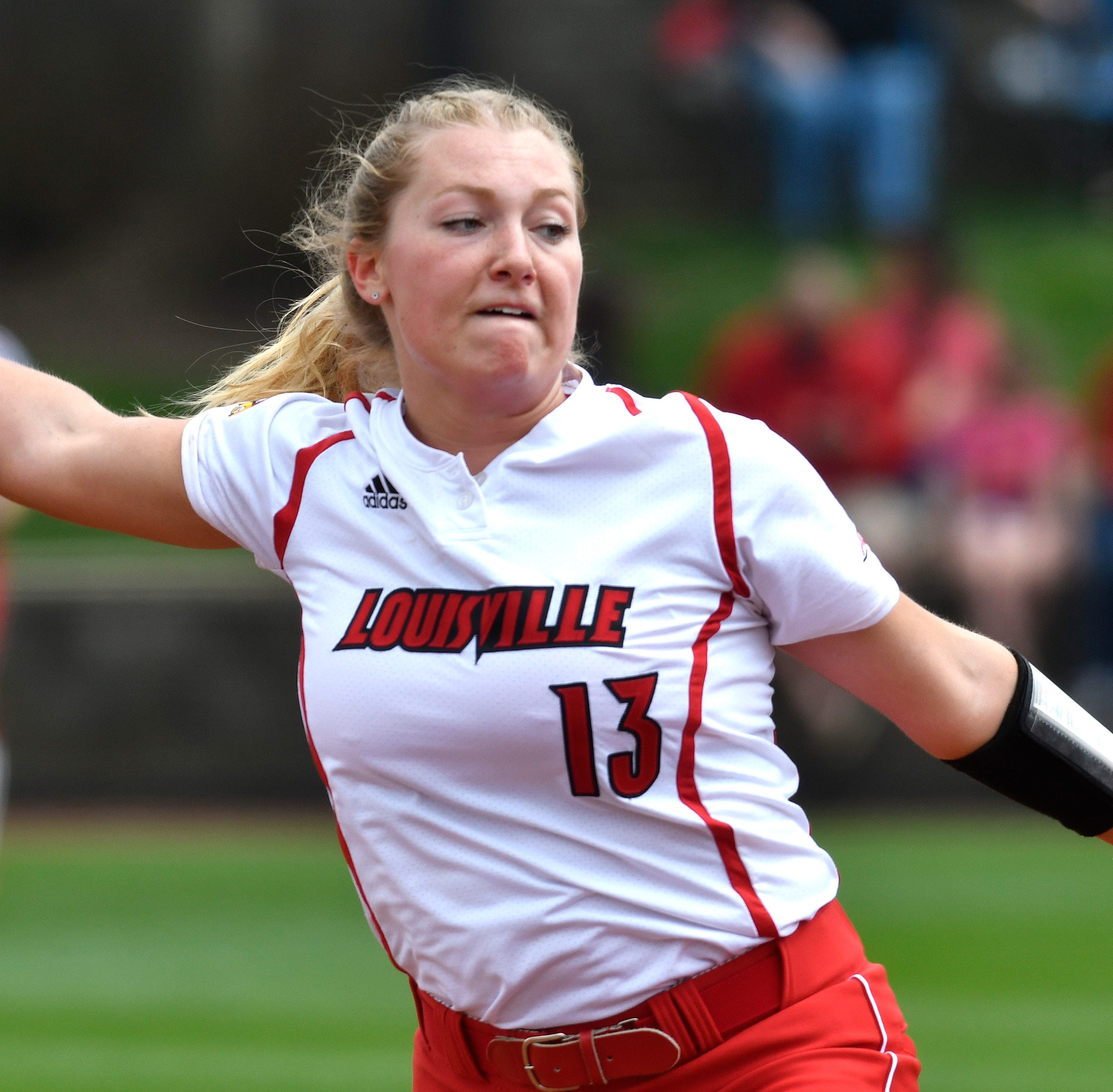 Louisville softball beats Northwestern after three-hour rain delay