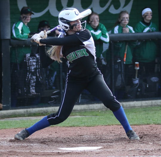 Clear Fork's Carson Crowner drilled a solo home run in the Lady Colts' 7-4 loss to Madison on Monday.