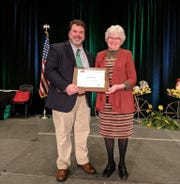 Pat Baldinger, leader of the Green Camp Shamrocks 4-H group recently received the Meritorious Award at the Ohio State 4-h conference. She has been a 4-H leader for 60 years.