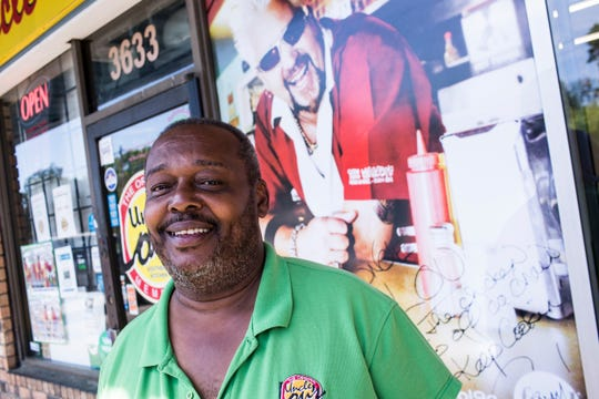 Lou Martin, owner of Uncle Lou's Fried Chicken, stands at the restaurant's location at 3633 Millbranch Road. Uncle Lou's Fried Chicken was featured on the Food Network in 2008.