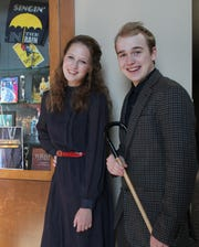 """Ellie Kozinski, 16, plays Terry Randall and Caleb Mueller, 17, plays Keith Burgess in the Oconomowoc High School Players' spring production of """"Stage Door."""" The show will be performed at 7 p.m. Thursday through Saturday, May 2-4, and at 2 p.m. Saturday, May 4, on the Oconomowoc Arts Center's Main Stage."""