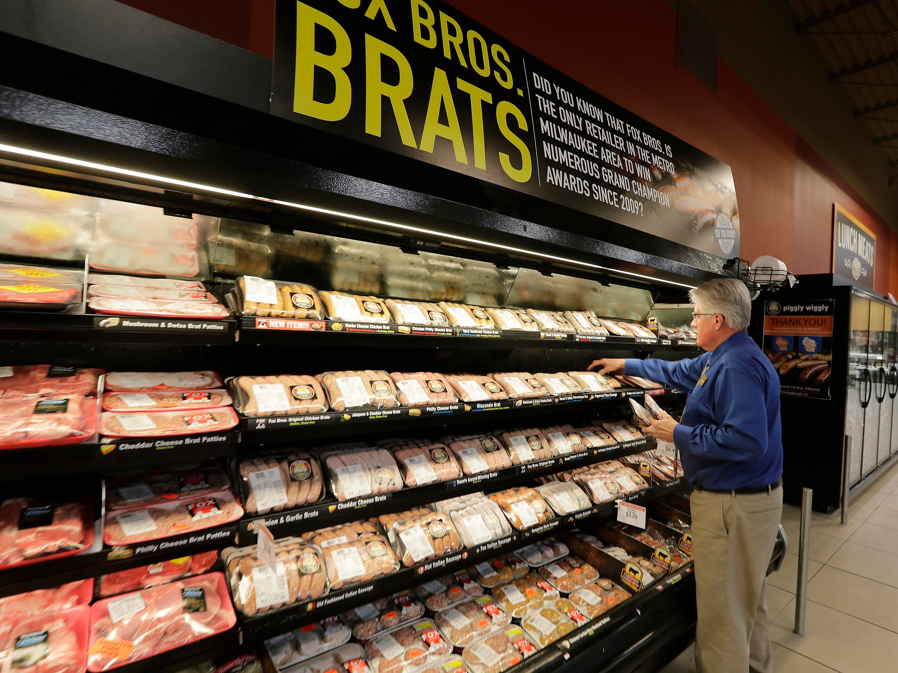 The Fox Bros. Piggly Wiggly store in Richfield features the Fox Bros. line of brats.