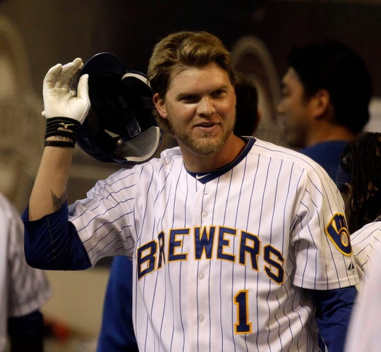 Milwaukee Brewers slugger Corey Hart was all smiles after a home run in 2011.