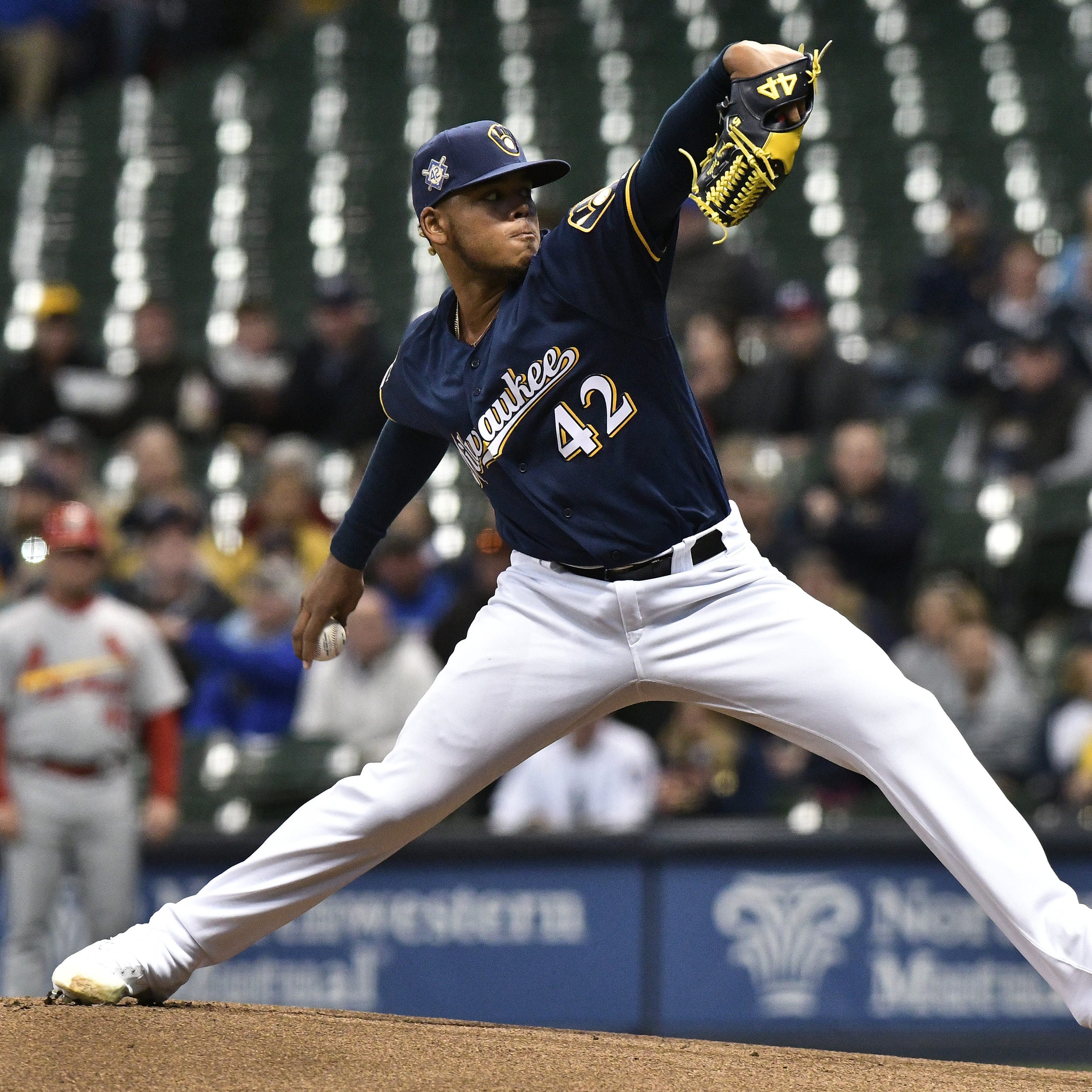 Brewers place Freddy Peralta on injured list with right shoulder issue