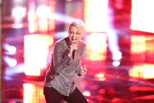 """Kenosha rock singer Betsy Ade lost her """"live cross battle"""" on NBC's """"The Voice"""" Tuesday — but she was stolen by Adam Levine to compete on his team, the second times he's been stolen on the show this season."""