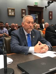 State Rep. Jack McFarland, R-Winnfield, testifies before the House Transportation Committee, Tuesday, April 16, 2019 in favor of his bill that would restrict billboards.