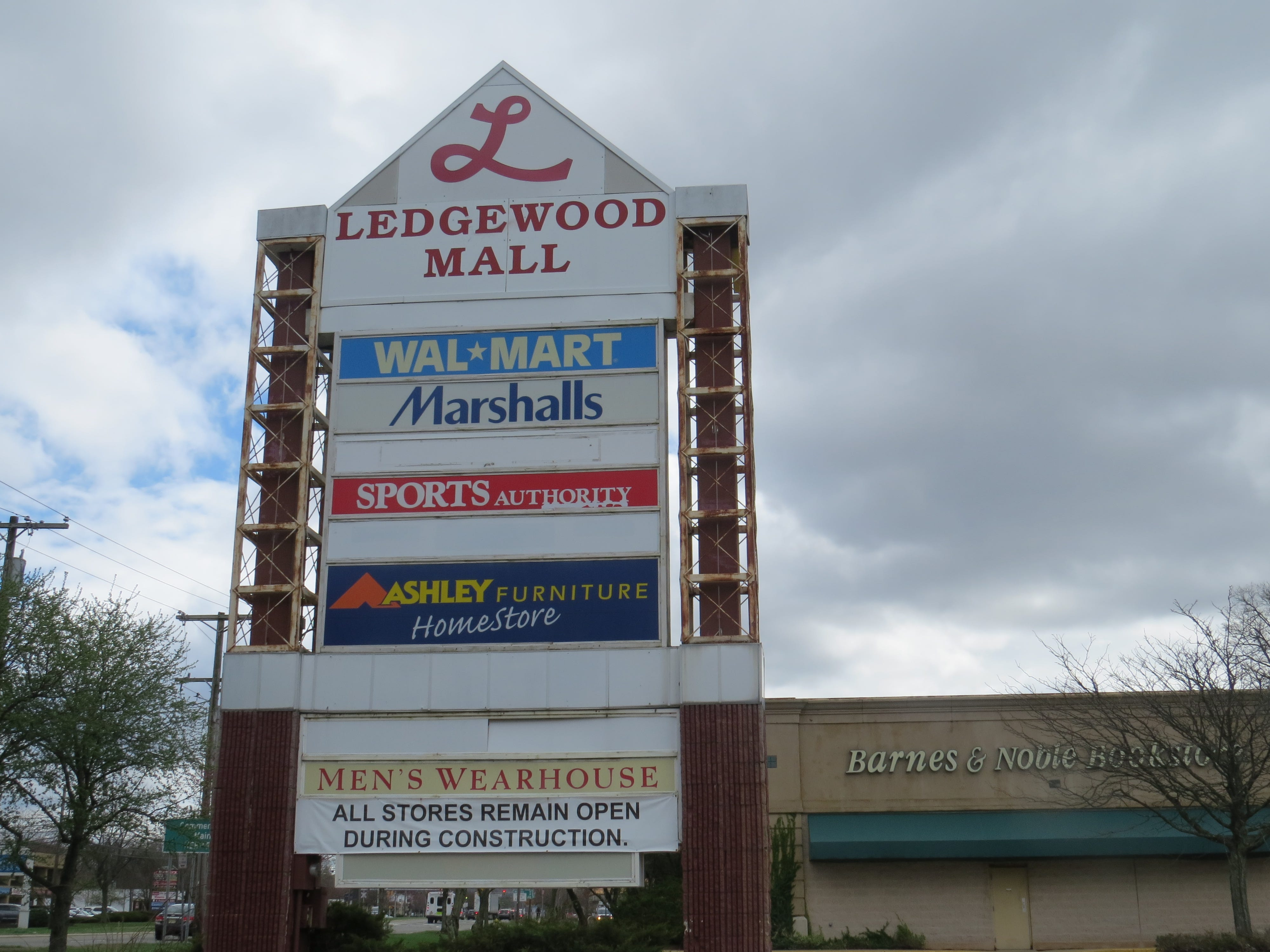 The Ledgewood Mall in Roxbury April 16, 2019. Walmart announced it will demolish the store in June and replace it with a larger supercenter, slated to open in 2020. After that, only Ashley Furniture, Men's Warehouse and Marshall's will remain open. Sports Authority closed years ago.