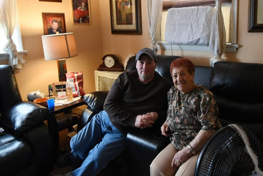 """""""Little America"""" film set in Lyndhurst on Thursday April 11, 2019. Robert Odell and his Landlady Helen Violante talk about the experience of having their home used as a film set."""
