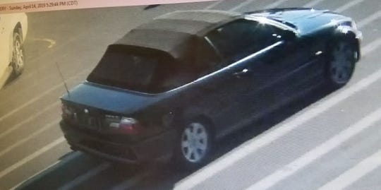 Photo of car the suspected Troy Walmart shoplifter left in.