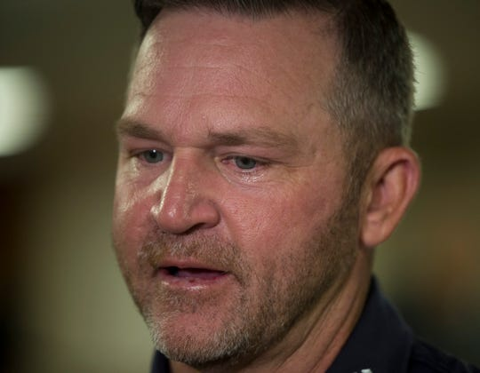 Golfer Jason Bohn becomes emotional as he talks about his mother at the Normandie Medical Building in Montgomery, Ala., on Tuesday, April 16, 2019. Bohn suffered a heart attack at a golf tournament in 2016. Following his health scare, Bohn's mother went for a check up and led to a triple bypass surgery.