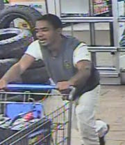 Prattville police are looking for this man in connection with the theft of several vehicle batteries.