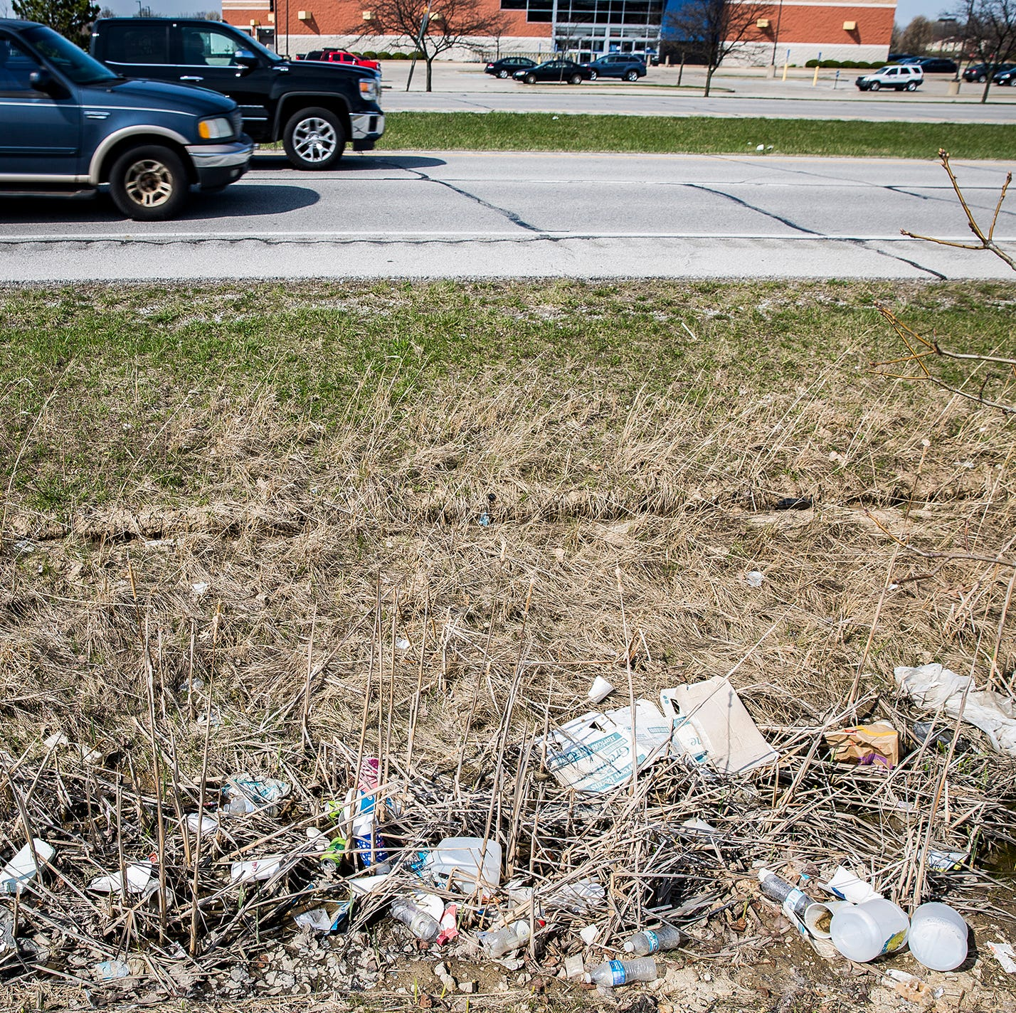 Litter piling up again at McGalliard gateway to Muncie