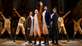 """Elijah Malcomb, Joseph Morales, Kyle Scatliffe, Fergie L. Philippe and the company of the """"Hamilton"""" National Tour."""