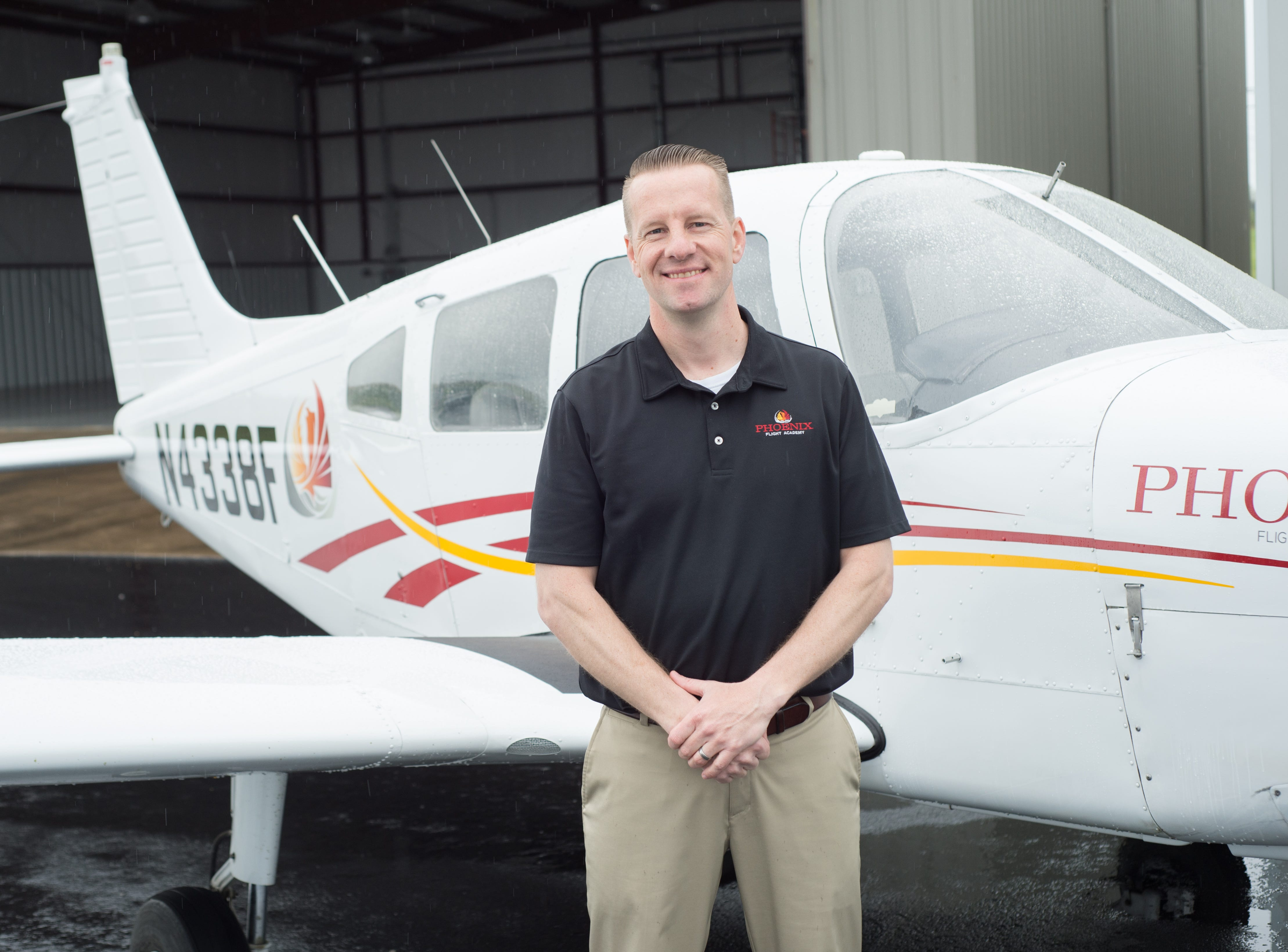 Phoenix Flight Academy Flight School Manager Steve Stryker pauses for a photograph during a Fly-In Breakfast at the Sumner County Regional Airport in Gallatin on Saturday, April 13.