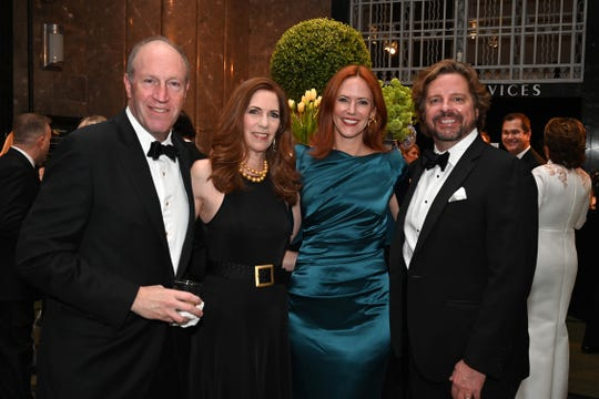 Bob and Julie Gordon, left, Tree and Lance Paine attend the 2019 Frist Gala.
