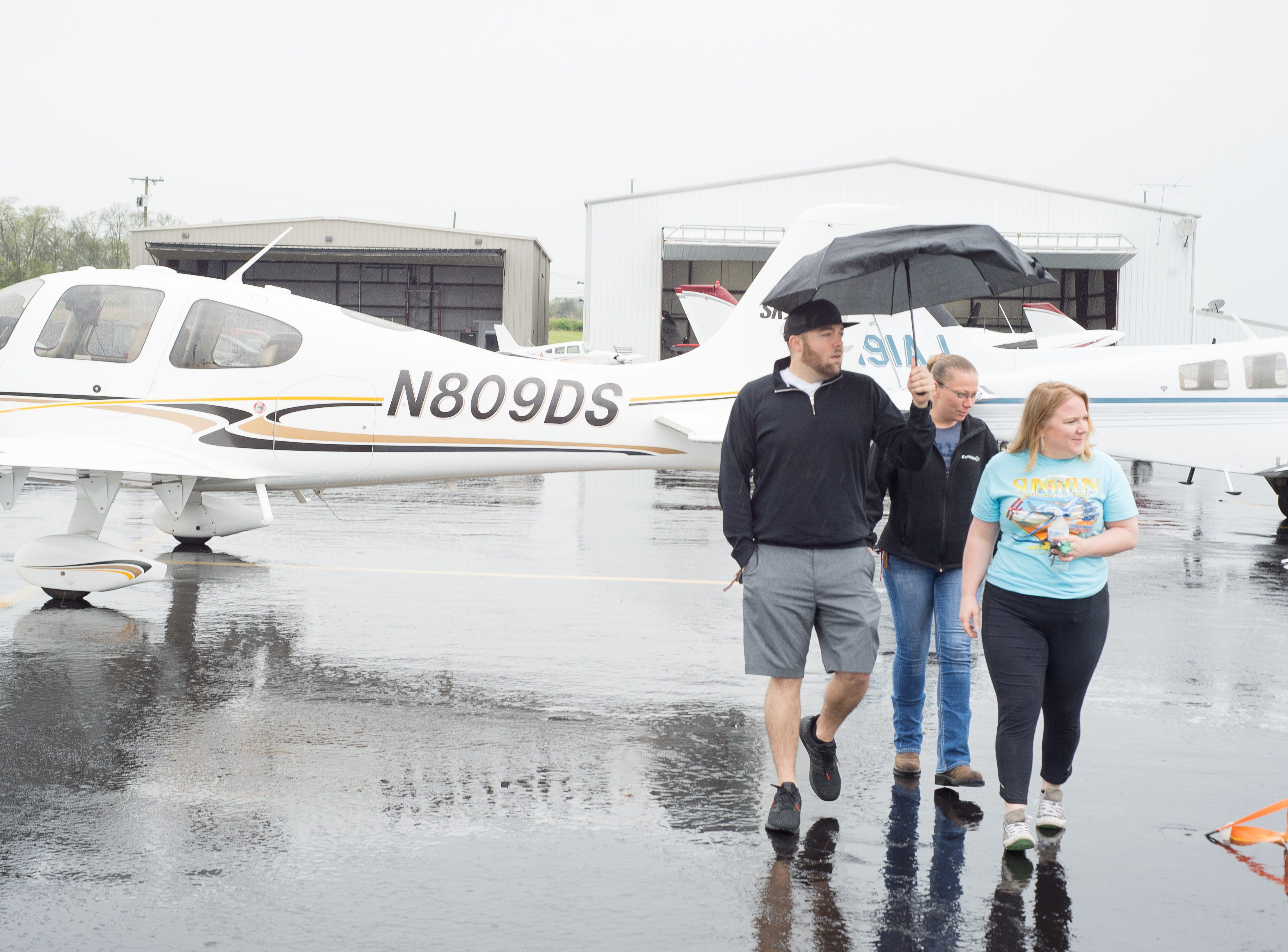 Attendees enjoyed a Fly-In Breakfast despite the rain at the Sumner County Regional Airport in Gallatin on Saturday, April 13.