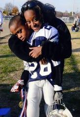 Family photographs of NFL draft prospect Emanuel Hall, on Wednesday, Feb. 20, 2019, in Franklin, Tenn.
