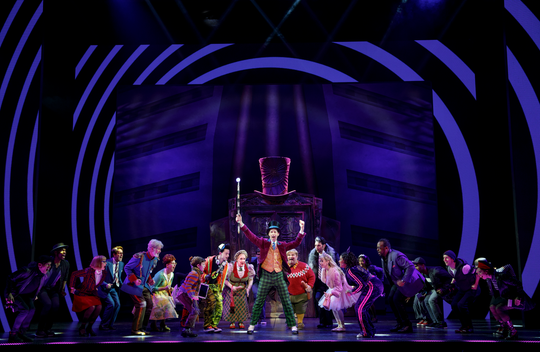 "Noah Weisberg as Willy Wonka and company. Roald Dahl's ""Charlie and the Chocolate Factory."""