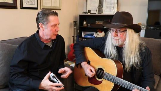 Bart Herbison, left, talks to John Scott Sherrill about songwriting.