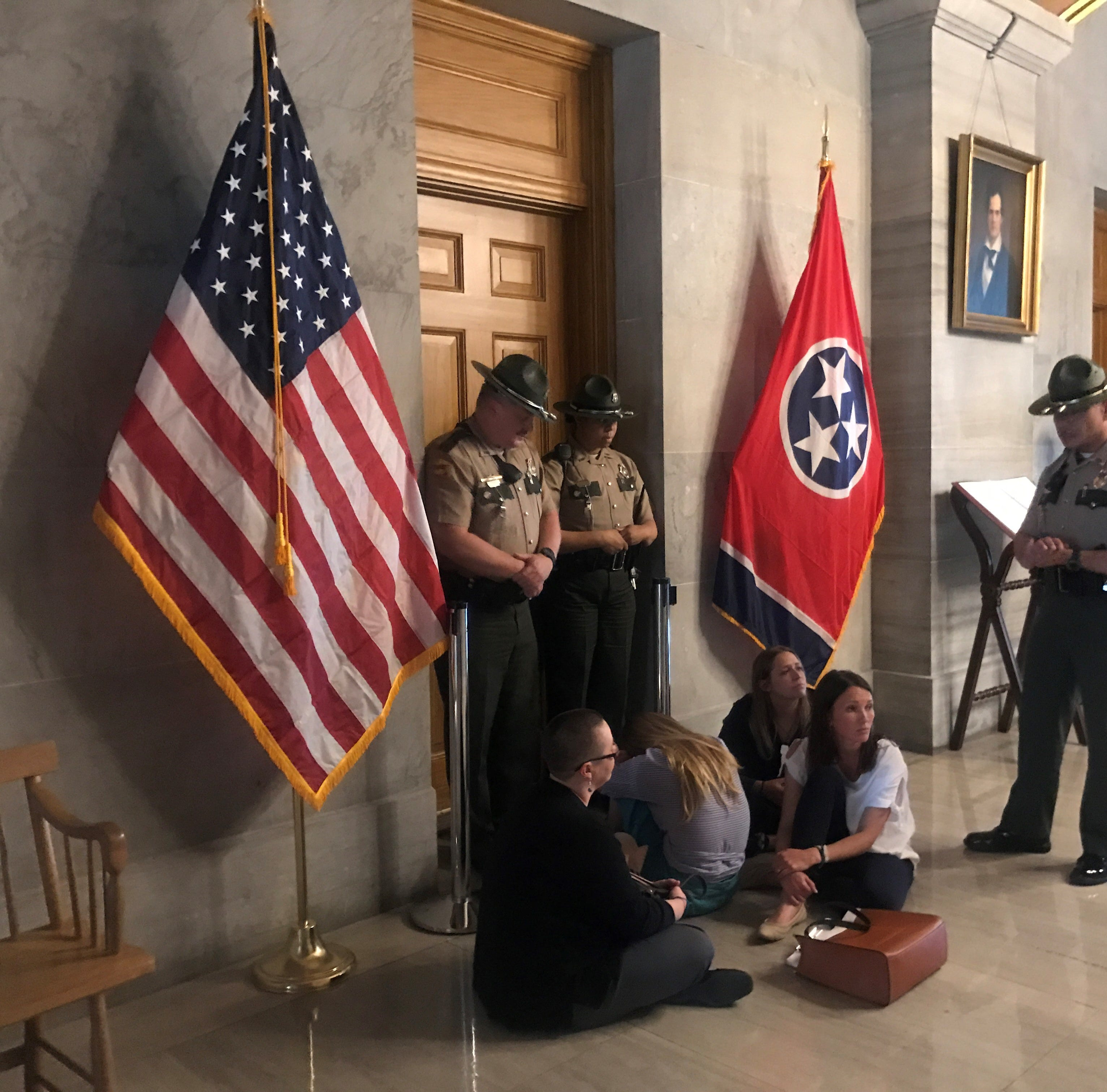 Troopers kick out, threaten to arrest reporters during Rep. David Byrd protest at governor's office