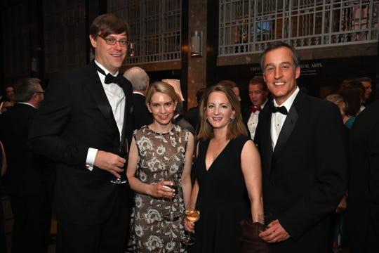 John and Pamela Brunger, left, Lauren and Mark Brueggen attend the 2019 Frist Gala.