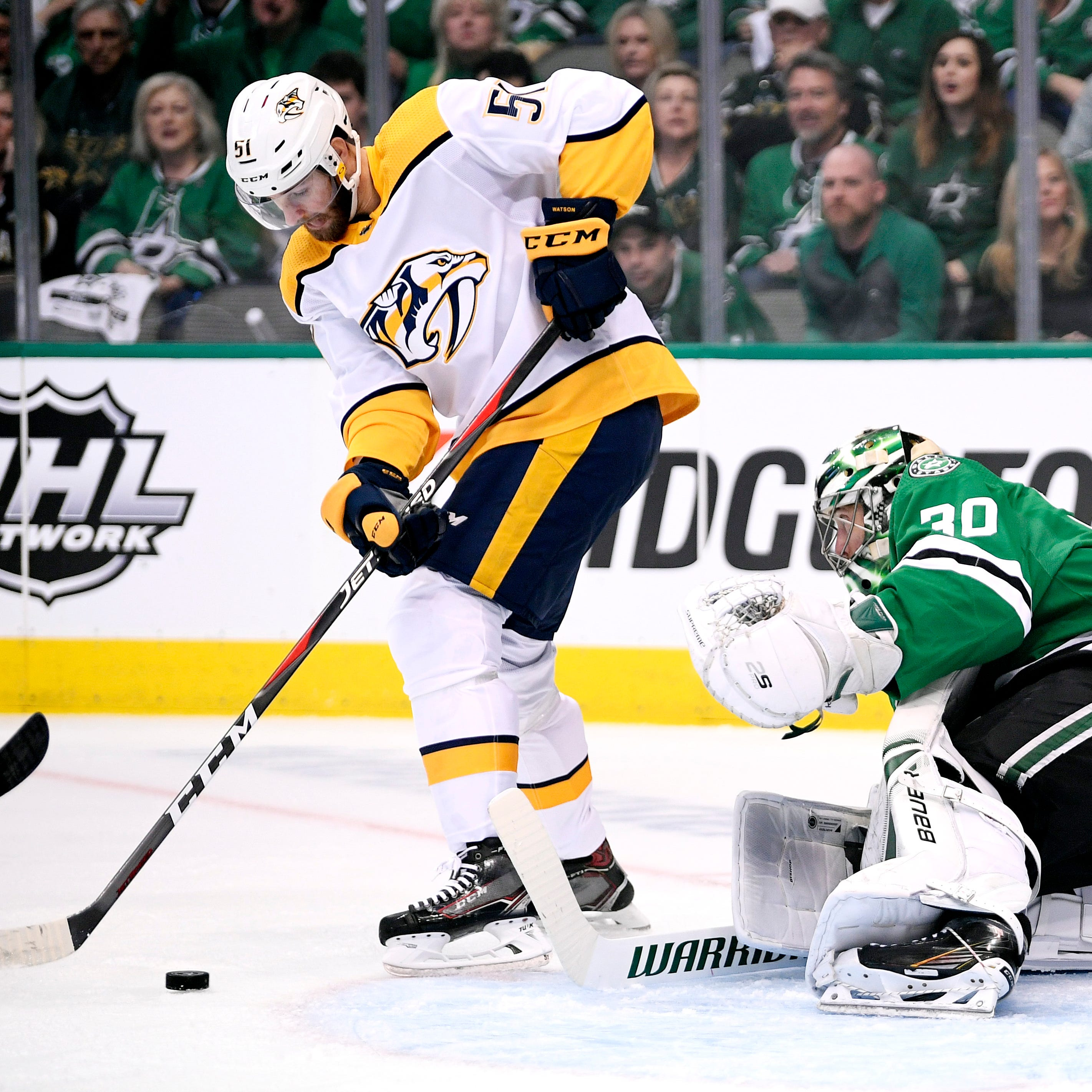 Dallas Stars fan ejected: Austin Watson, NHL not saying much about what led to Game 3 move