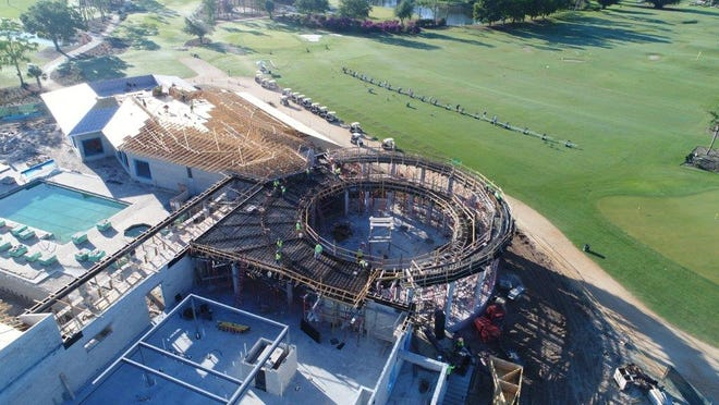 A drone's perspective of the renovation project currently underway at Quail Creek Country Club.