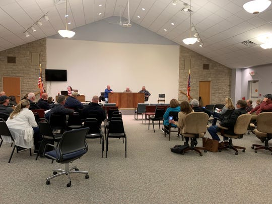 About 15 people attended the regular Union Township meeting on Monday, April 15, 2019 to discuss Hebron and Union Township's efforts to form a fire district.