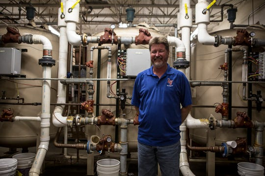 Jack Shinn, a Valley grad and maintenance technician, saves the district thousands of dollars a year with his knowledge and expertise. One of Shinn's jobs is maintaining the on site water treatment facility for Licking Valley High School.