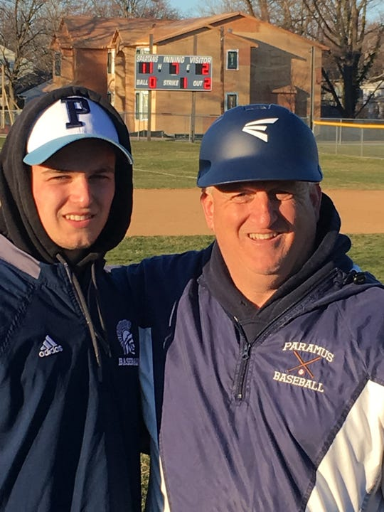 Patrick Warburton Jr. was the winning pitcher for Paramus in the first varsity win for his father and coach Patrick Warburton.