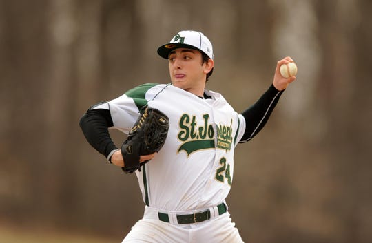 St. Joseph's Rob Kaminsky fires a pitch during a 2011 game.