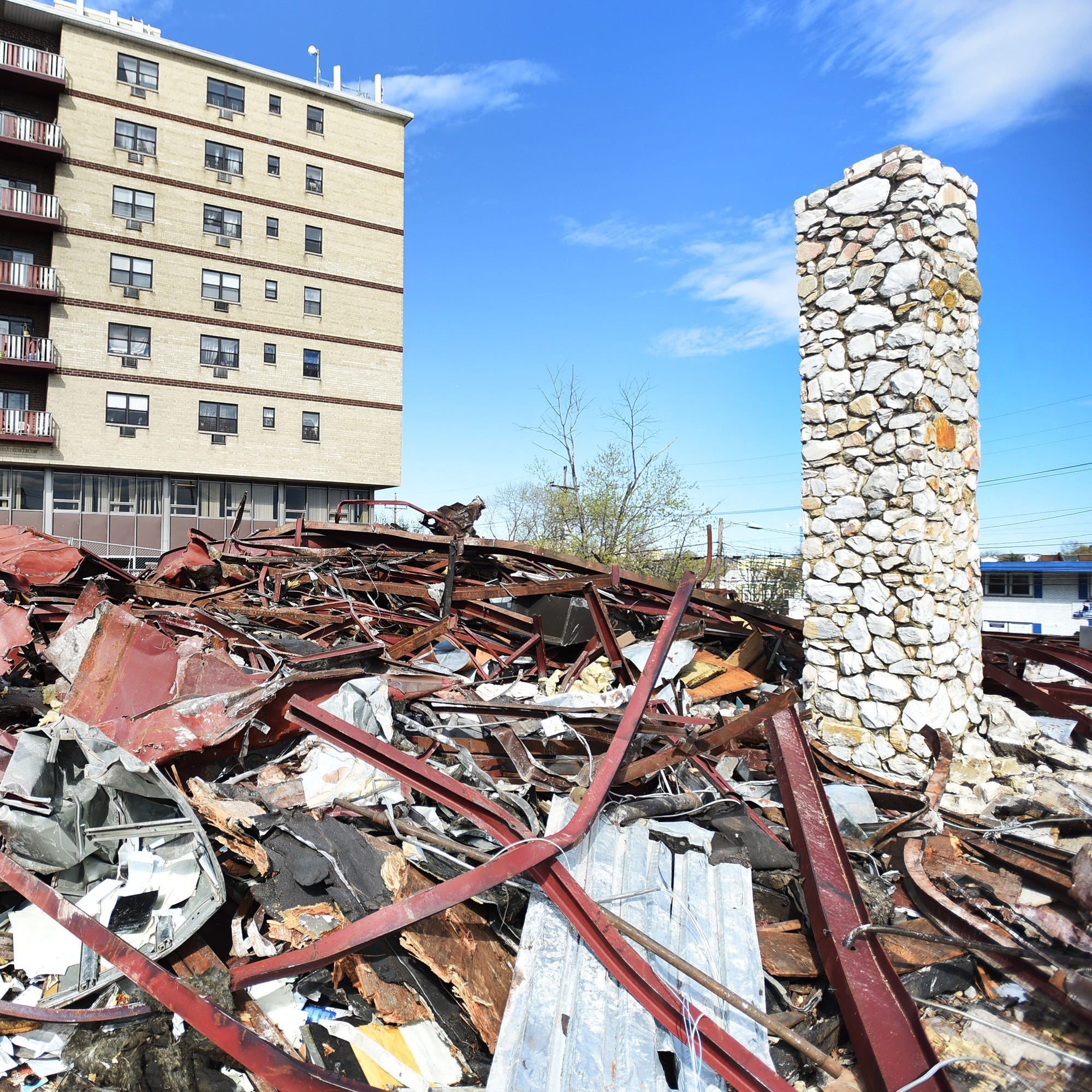 Arena Diner, where the elite met to eat, is reduced to rubble