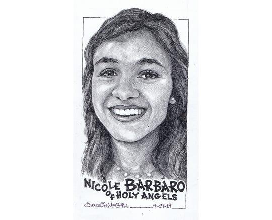Nicole Barbaro, Holy Angels track & field
