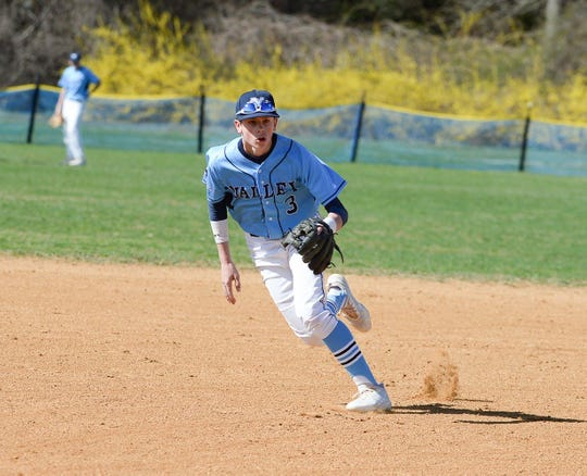 Justin Saeger hit a three-run single for Wayne Valley against Bergen Catholic.