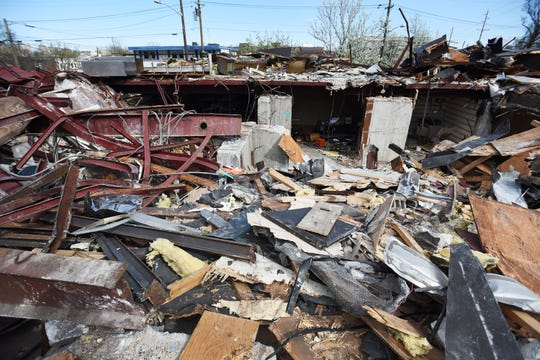 Photo of the debris from the Arena Diner in Hackensack after being demolished on 04/16/19.